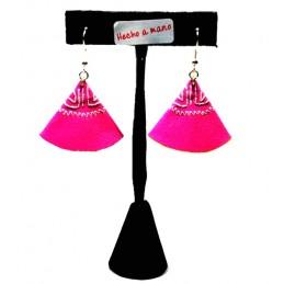 Bullfighting cape earrings, ZiNGS design