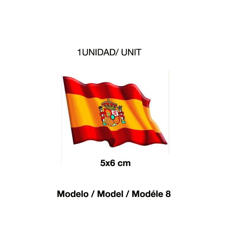 Spanish flag stickers