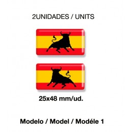 Spanish flag stickers