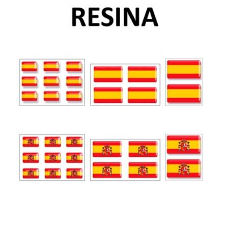 Pegatinas con volumen de la bandera de España