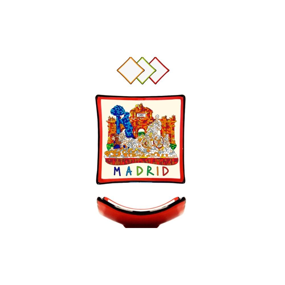 "Assiette ""Monuments de Madrid"" Trencadis"
