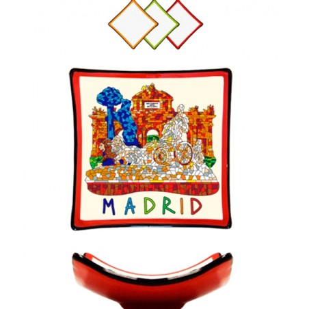 """Assiette  Trencadis """"Madrid"""""""