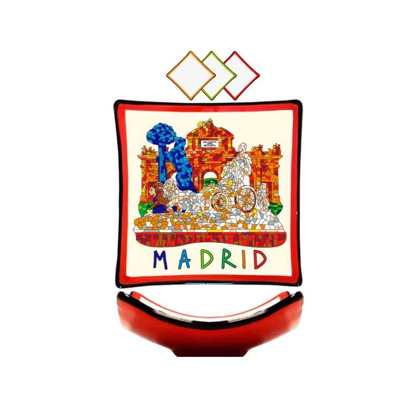 "Assiette ""Monuments de Madrid"" Trencadis"
