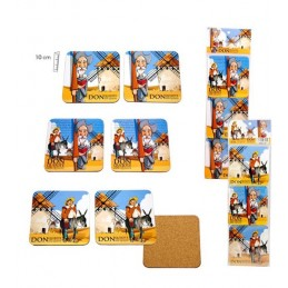 "Coasters ""Don Quixote and Sancho de la Mancha"""