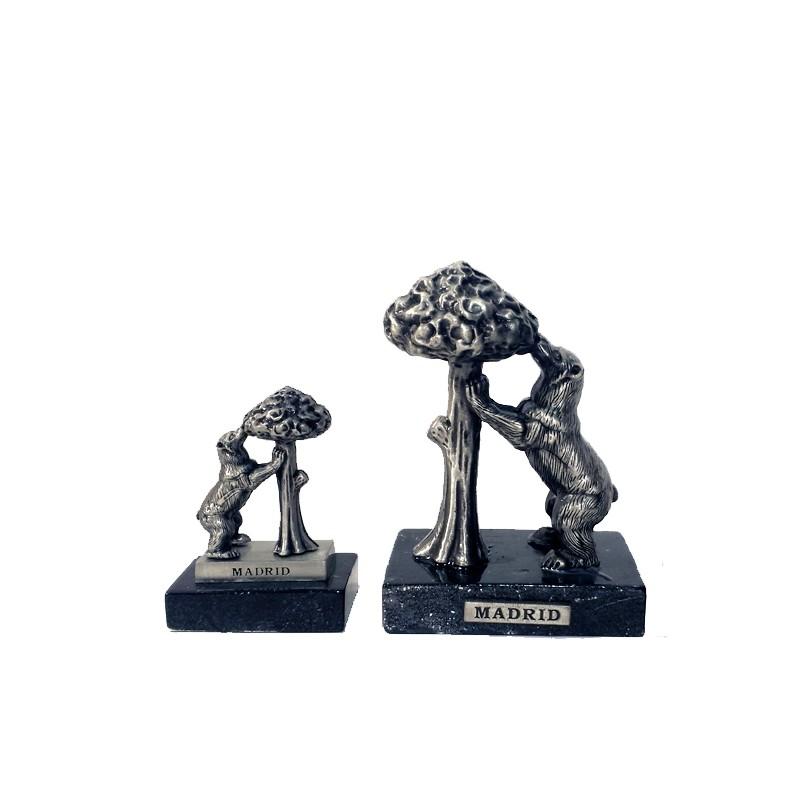 Bear and Arbutus metal figure on base
