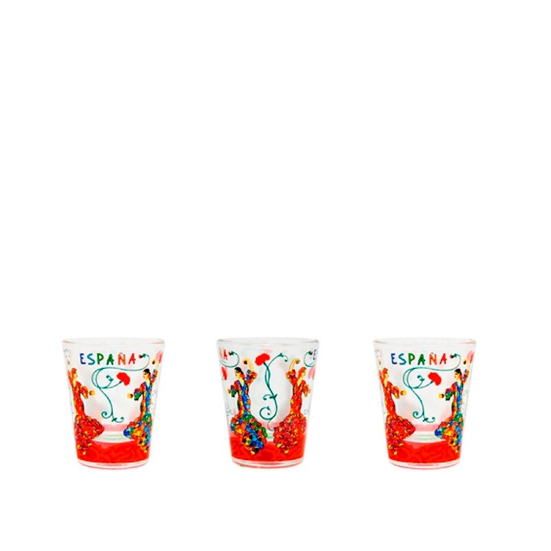 "Vaso de cristal ""Flamenca"" Trencadís"