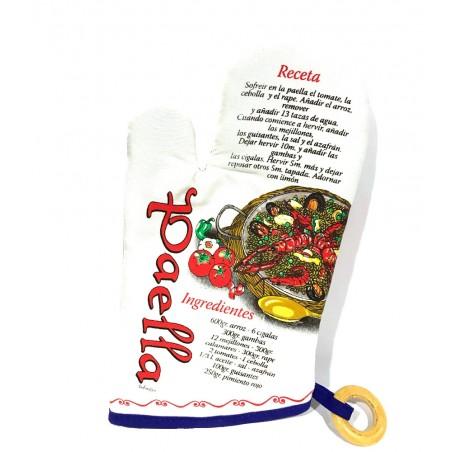 Oven mitt with Spanish gastronomy