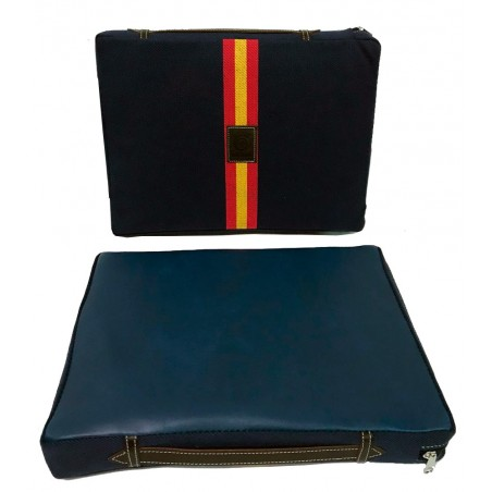 Bullfighting cushion in blue color with the Spanish flag