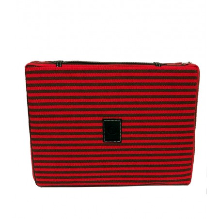 Bullfighting cushion red and green stripes