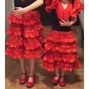 Flamenco dancer children costume