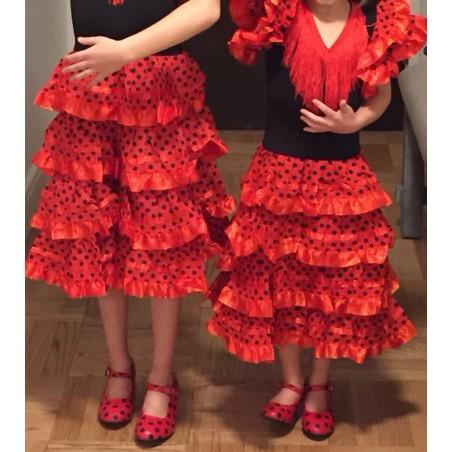 Disfraz infantil de flamenca para niñas de 0 a 14 meses
