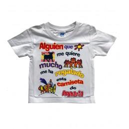 """T-shirt """"Alguien que me quiere..."""" infantile"""