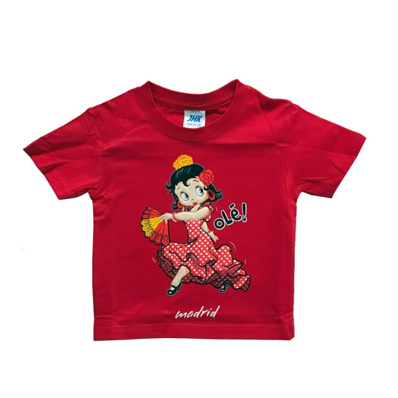 """Flamenca dancer"" t-shirt for girls"