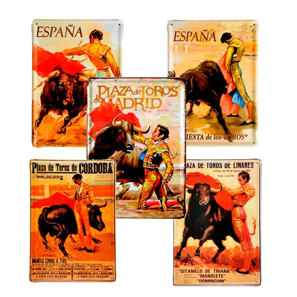 """Bullfighting"" Metal plates"