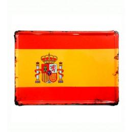 """Plaque de métal """"Drapeau de l'Espagne"""""""