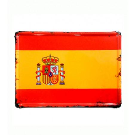 """Placa metálica """" Bandera de España"""""""