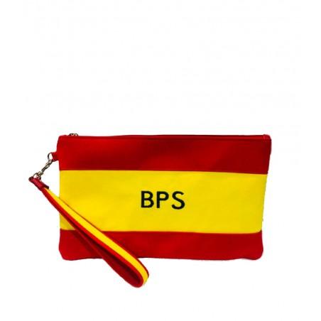 """Cartera de mano, bolso o Clutch, """"Bandera de España"""""""