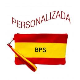 "Cartera de mano, bolso o Clutch, ""Bandera de España"" Personalizada"