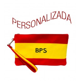 """Sac à main, sac à main ou clutch, """"Drapeau de l'Espagne"""" personnalisé"""