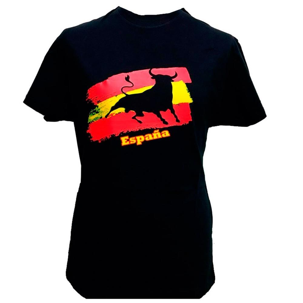 """T-shirt """"Toro y bandera de España"""" adulte"""