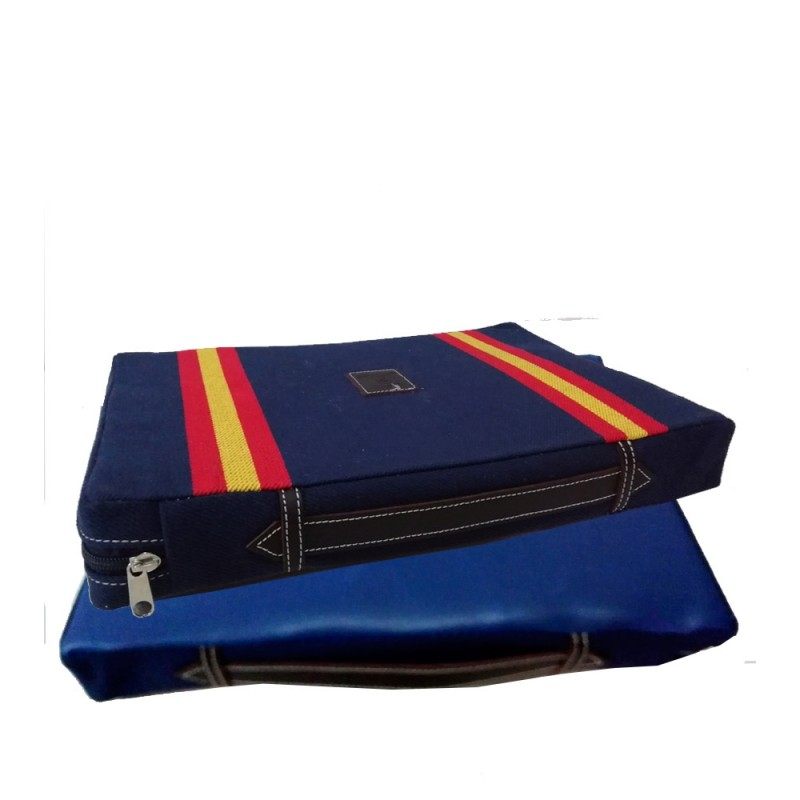 """Cushion for the bullfights """"Double strip of the Spanish flag"""""""