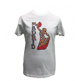"Adult T-Shirt ""Spanish Dancer mosaic"""