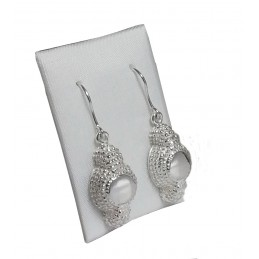 """Montera"" bullfighting silver earrings"