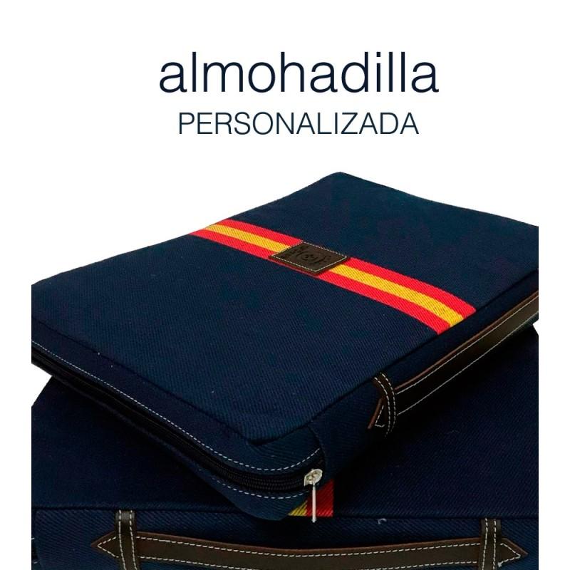"Almohadilla taurina ""Azul bandera"" personalizada"