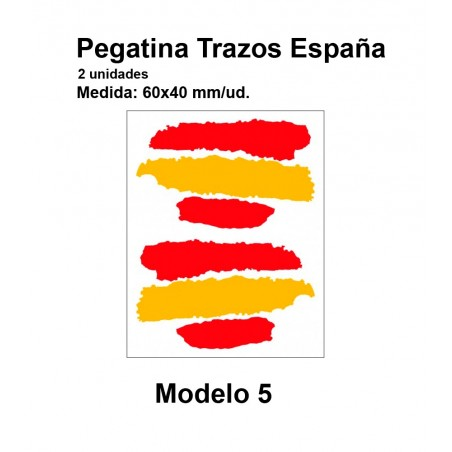Spain flag stickers