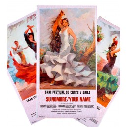 Cartel de flamenco personalizable