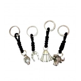 Porte-clés en cuir et métal taurin