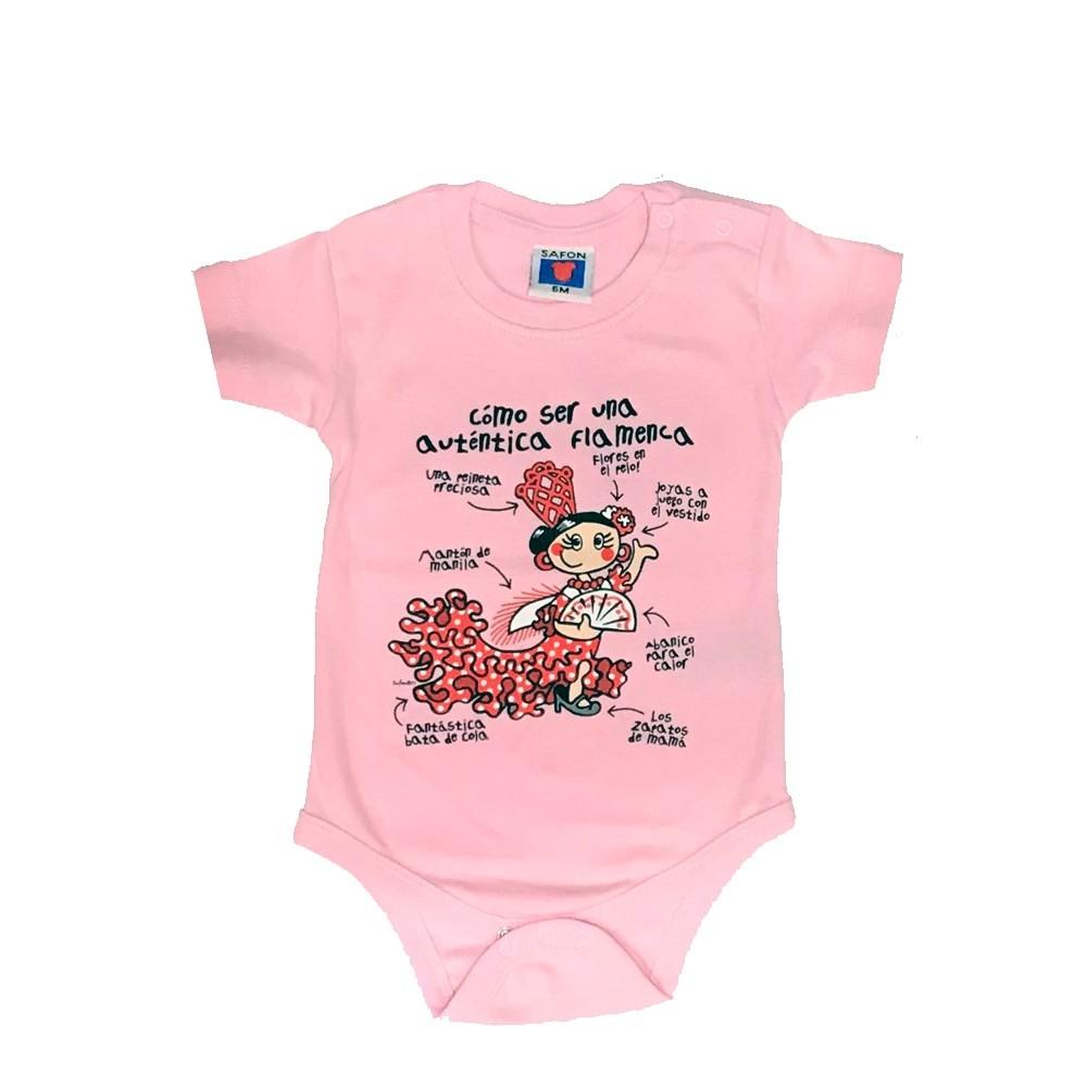 Camiseta body de bebe Flamenca