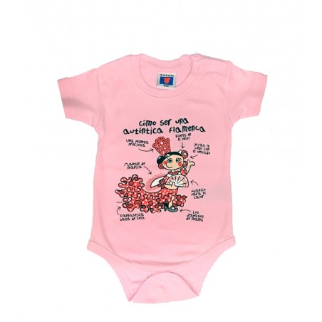 Camiseta body de bebe Flamenca