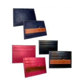 """Livestock irons"" Leather card holder"