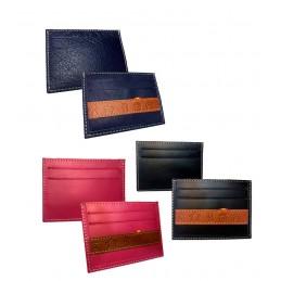 Porte-cartes en cuir et fer à ganaderia
