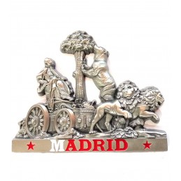 """Madrid"" Metal fridge magnet"