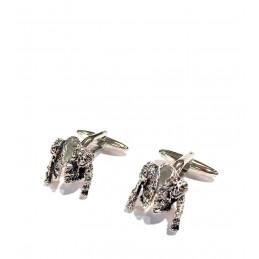 Boutons de manchette veste de taurine Rhodium