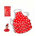 """Flamenco dancer"" Children kitchen apron"