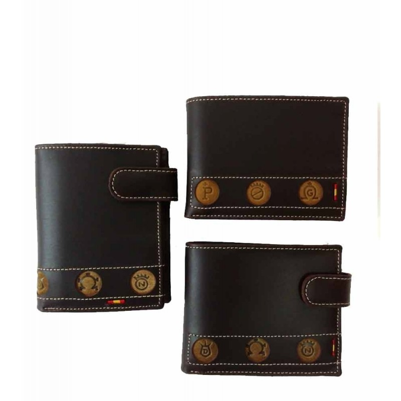 Leather wallet for men with Brave Bulls Livestock Irons