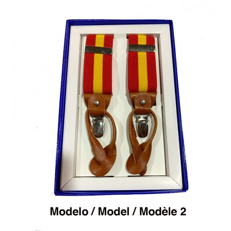 Pants suspender with Spanish flag