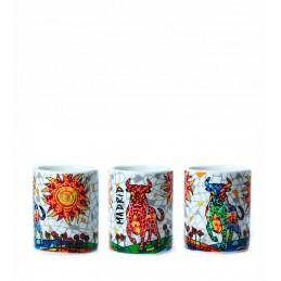 """Shot glass """"Toro Sol mosaic"""" Trencadis"""