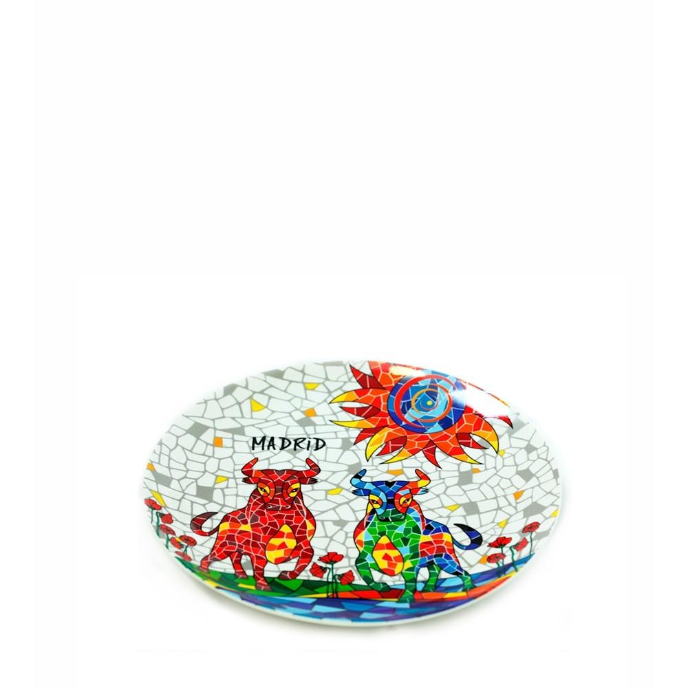 "Saucer ""Bull & Sun mosaic"" Trencadis"