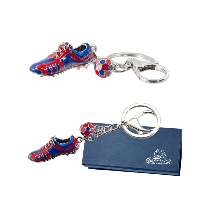 FC Barcelona metal Keychain with boot