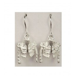 """Chaquetilla de torero"" bullfighting silver earrings"