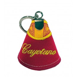 Capote bullfighting keychain with embroidered names of matadors