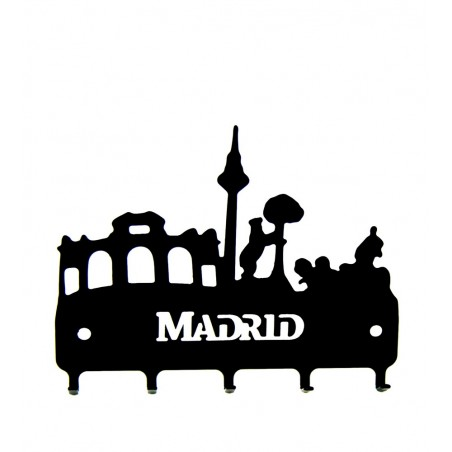 """Cuelga llaves de forja """"Skyline Madrid"""""""