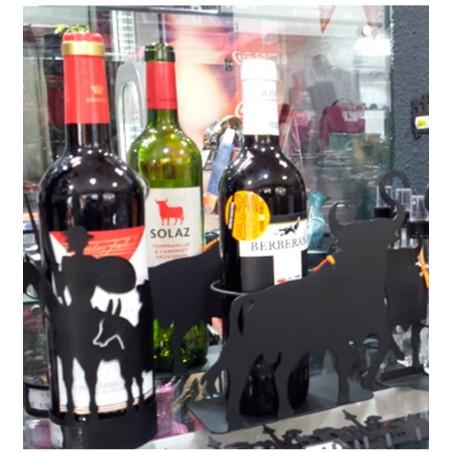 """Wrought iron wine rack """"Toro and Spain"""""""