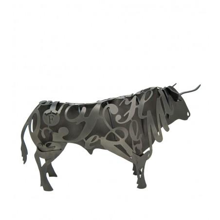 Wrought iron Bull Figure