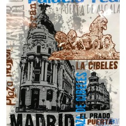 "Madrid ""Gran Vía"" Adult T-Shirt"
