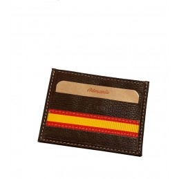 "Leather card holder ""Flag of Spain"""